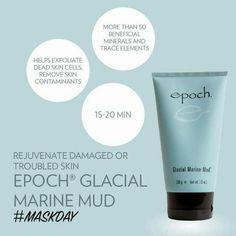 This skin renewing estuary treasure helps exfoliate dead skin cells, remove skin contaminants, and rejuvenate damaged or troubled skin. It nurtures your skin with more than 50 beneficial minerals and trace elements, including zinc and sea botanicals. Epoch Mud Mask, Marine Mud Mask, Glacial Marine Mud, Dead Skin, Anti Aging Skin Care, Just For You, Happiness, Nu Skin Mud Mask, Skincare
