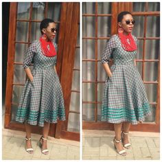 Amazing Shweshwe Print Gown For Women 2019 ShweShwe 1 Best African Dresses, African Bridesmaid Dresses, African Traditional Dresses, African Fashion Dresses, Traditional Outfits, African Clothes, Xhosa Attire, African Attire, African Wear