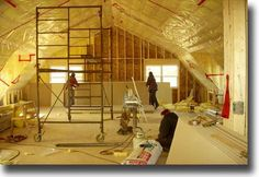 Rebuild second story with pre-fab trusses to vault the ceiling