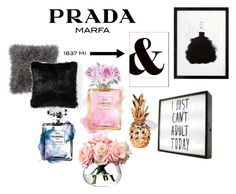 """home"" by cornelia-smrecki on Polyvore featuring interior, interiors, interior design, home, home decor, interior decorating, Prada, Chanel, West Elm and LSA International"