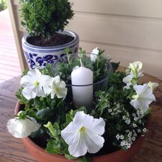 A quick and easy DIY project on DIY Decorator today make this outdoor table centrepiece for your outdoor room.