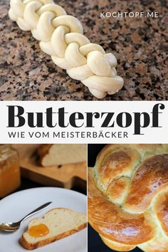 Basic recipe for butter plait like from a master baker - Leckere Desserts Food Allergy Symptoms, Food Allergies, Easy Sweet Roll Recipe, Dog Recipes, Gourmet Recipes, Bread Recipes, Master Baker, A Food, Food And Drink