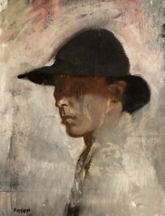 William Orpen - Self Portrait -  Mede door aanbevelingen van John Singer Sargent groeide hij in de tijd daarop volgend uit tot een van de meest gevraagde portretschilders in Londen. Daarnaast maakte hij ook experimentele zelfportretten, vaak met een dramatische uitstraling. Tegelijkertijd schilderde hij veel werk met impressionistische motieven.