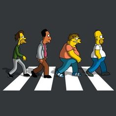 The Simpsons / The Moe's on Abbey Road! Simpson Wallpaper Iphone, Cartoon Wallpaper, Abbey Road, The Simpsons, Cartoon Art, Cartoon Characters, Simpsons Drawings, American Dad, Kawaii