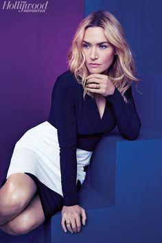 Kate Winslet Pose on The Hollywood Reporter Magazine November 2015 Photoshoot