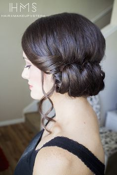 Rolled updo   we ❤ this!  moncheribridals.com  #weddingupdo