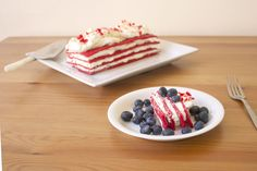 Red, White & Blue Icebox Cake on Food52