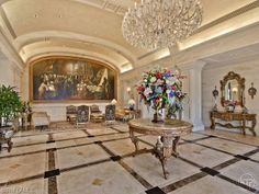 The lobby of the Cap Ferrat high rise in Pelican Bay | Naples, Florida