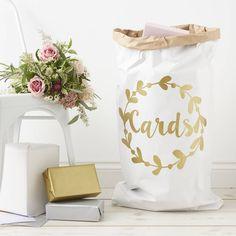 Personalised Wreath Wedding Card Sack
