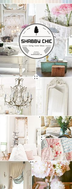 Romance at Home: Shabby Chic Living Room Ideas and Designs