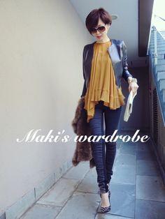 My special watches❤️&wardrobe の画像|田丸麻紀オフィシャルブログ Powered by Ameba Daily Fashion, Everyday Fashion, Girl Fashion, Fashion Outfits, Womens Fashion, Tokyo Street Style, Street Style Women, Office Outfits Women, Simple Outfits