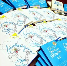 """Just inked a new bunch of LOVE~HOPE~PEACE Guardian Angels in """"Five Years in Heaven"""" hardcover and paperback for the Benedictine Gift Shop ~ Stop in or call 814-781-1019 to order (They ship anywhere in the U.S.)! +++++ #FiveYearsInHeaven #memoir #bookclub #inspirational #inspiration #summerread #beachread #summer #books #book #angel #angels"""