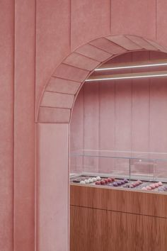 Pastel perfection abounds in this pink on pink interior design for the Nanan Patisserie in Wroclaw, designed by local firm BUCK. Flat Interior, Retail Interior, Minimalist Interior, Interior Design, Interior Shop, Interior Doors, Cafe Design, Store Design, Set Design