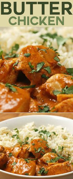"""Easy Butter Chicken Subbing fat free Greek yogurt for the heavy cream; using Pam instead of butter, and either cauliflower """"rice"""" or spaghetti squash instead of rice. Looking forward to making this dish!"""