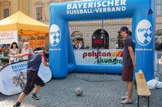aufblasbares Fussballtor BFV ... Anfertigung aufblasbarer Action Games nach Kundenwunsch.