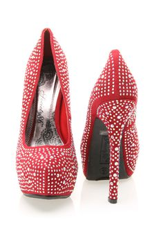 red and rhinestones