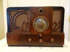 Antique Vintage Stewart Warner Model R1362A Magic Dial Tube Radio Art Deco | eBay