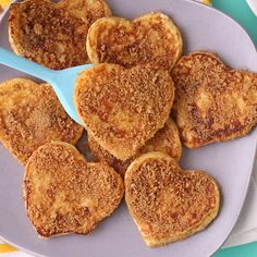 "Dress up French toast for a special occasion with these sweet heart-shaped churro french toast ""sandwiches."" Filled with chocolate and coated in cinnamon-sugar they are a great idea for a special birthday breakfast or Valentine's Day brunch idea. French Toast Sandwich, Churro French Toast, Chocolate French Toast, Stuffed French Toast, Birthday Breakfast, Birthday Brunch, Special Birthday, Sweet Breakfast, Breakfast Recipes"