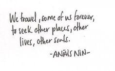 Seek other souls.