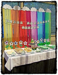 Post is about Ireland theme but this would be perfect for Daisy to Brownie Girl Scout bridging ceremony Girl Scout Leader, Girl Scout Troop, Brownie Girl Scouts, Girl Scout Cookie Sales, Girl Scout Cookies, Rainbow Parties, Rainbow Theme, Girl Scout Bridging, Girl Scout Activities