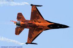 Royal Netherlands Air Force General Dynamics F-16AM Fighting Falcon. Royal International Air Tattoo 2013, RAF Fairford.
