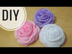 DIY || Cara mudah membuat mawar bakar | Tutorial Bloomy Rose With Chiffon | Fabric Flower - YouTube