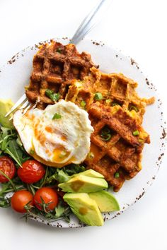 Paleo Sweet Potato Waffles made with four essential ingredients and a low FODMAP option | Gluten Free, Dairy Fee, Sugar Free
