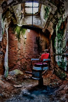 The barber's chair, Eastern State Penitentiary