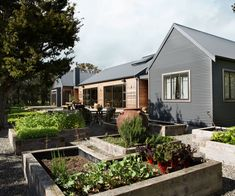 This house went from a cottage to a five-bedroom family home - - The owners of this Greytown home didn't have an ultimate plan for their property, but in 10 years - Modern Barn, Modern Farmhouse, Style At Home, Casa Hotel, Shed Homes, Garden Beds, Home Fashion, House Colors, Exterior Design