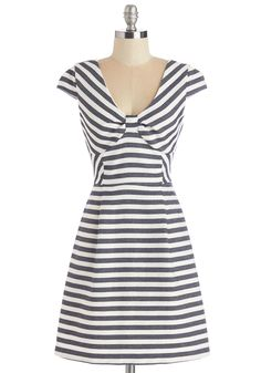 Sailed It! Dress. Youve outdone your ever-so-stylish self in this striped, nautical-inspired frock!  #modcloth