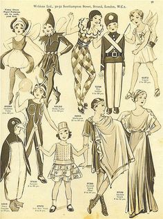 Vintage 30s costumes