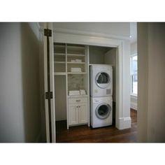Laundry closet plus room for craft supplies
