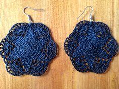 Handmade crocheted earrings by Linzens on Etsy