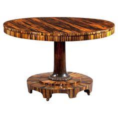 Regency Inlaid Calamander Wood Center Table