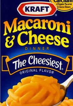 Kraft Macaroni & Cheese:  When I was a child, THIS was my crack!