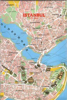 Istanbul Turkey Tourist map Istanbul map and Istanbul turkey