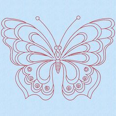 Butterfly 2 Machine Embroidery Design | Craftsy