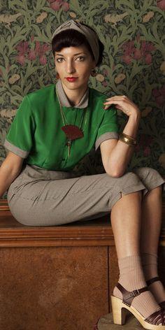 Frida Larsen Tierney Contrast Blouse