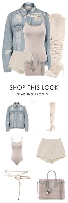 """Untitled #628"" by iloveivonne on Polyvore featuring River Island, Gianvito Rossi and Yves Saint Laurent"