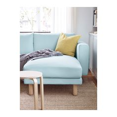 norsborg loveseat with 2 chaises edum light blue  birch Apartment Size Sectional Sofa Blue Apartment Size Sectional Sofa Beds