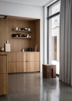 Kitchen Interior Design Gjoevik House by Norm Architects - Norm Architects master the Danish concept of 'hygge', designing a cluster home in the Norwegian hinterland to hibernate. Contemporary Interior Design, Interior Design Kitchen, Contemporary Kitchens, Modern Kitchens, Interior Ideas, Danish Interior Design, Traditional Kitchens, Interior Colors, Small Kitchens