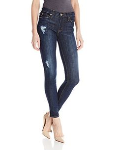 eada36a730ef21 Hudson Jeans Women's Nico Mid-Rise Super Skinny 5-Pocket Jean, Outwitted, 24