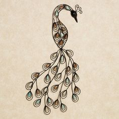 The Resting Peacock Metal Wall Art presents one of nature's most dazzling creatures in a stylish, abstract form. Handcrafted from metal, this stylized. Antler Wall Decor, Iron Wall Decor, Diy Wall Art, Wall Art Decor, Metal Wall Sculpture, Wall Sculptures, Metal Wall Art, Peacock Wall Art, Feather Wall Art
