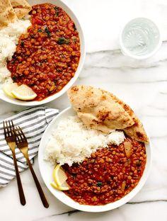 Vegan Two Lentil Dahl recipe lentils Vegan Two Lentil Dahl Indian Food Recipes, Whole Food Recipes, Dinner Recipes, Cooking Recipes, Healthy Recipes, Dinner Ideas, Dahl Recipe, Lentil Dahl, Lentil Soup