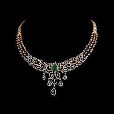 Diamond Necklace Diamond Necklaces / Chokers - Diamond Jewelry Diamond Necklaces / Chokers at USD Diamond Necklace Set, Diamond Choker, Diamond Jewelry, Gold Jewelry, Fine Jewelry, India Jewelry, Indian Diamond Necklace, Diamond Rings, Circle Necklace