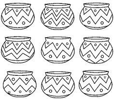 native american patterns printables | California Indian Basket coloring page