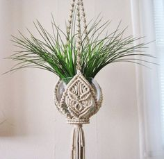 Macrame Plant Hanger Trefoil Handmade Macrame Home by craft2joy