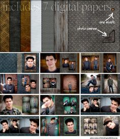 Items similar to 10x10 Senior Boy Photo Album Design PSD Templates - Give Metal A Chance on Etsy