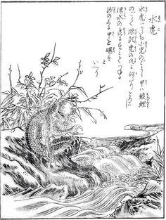 『今昔画図続百鬼』より「水虎」
