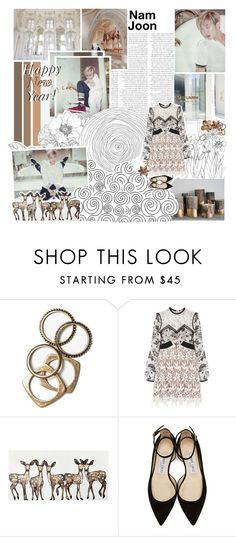"""""""⚜Let's Celebrate The New Year⚜"""" by kwiatekmarek ❤ liked on Polyvore featuring Prada, GET LOST, Rachel Leigh, self-portrait, WALL and Jimmy Choo"""